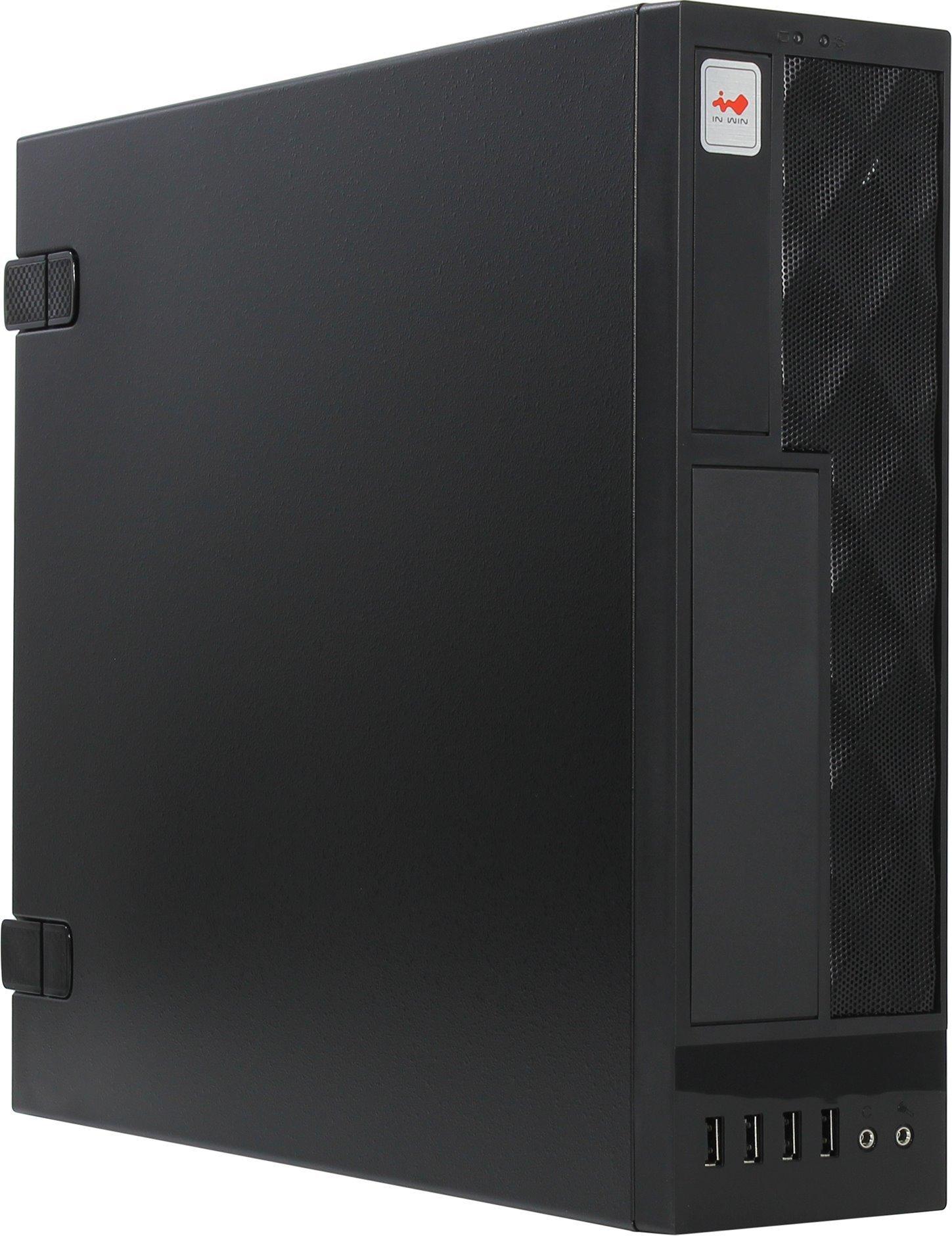 Корпус microATX InWin CE052S BL 300 Вт чёрный корпус microatx exegate mi 205l 300 вт чёрный серебристый ex249478rus