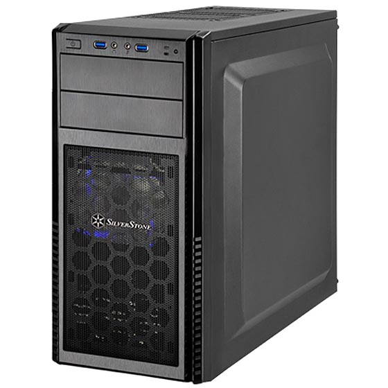 SST-PS11B-W корпус silverstone case ss precision ps11b q black sst ps11b q