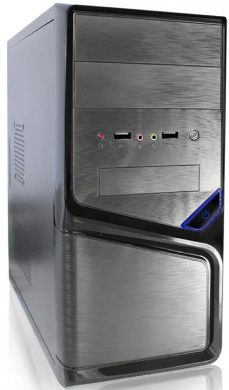 Корпус microATX Super Power Winard 5819 Без БП чёрный серебристый корпус microatx deepcool smarter без бп чёрный