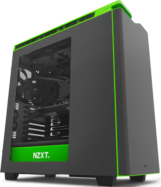 "Корпус NZXT CA-H442W-M9 H440 ""NEW EDITION"" MID TOWER W/WINDOW BLACK/GREEN"