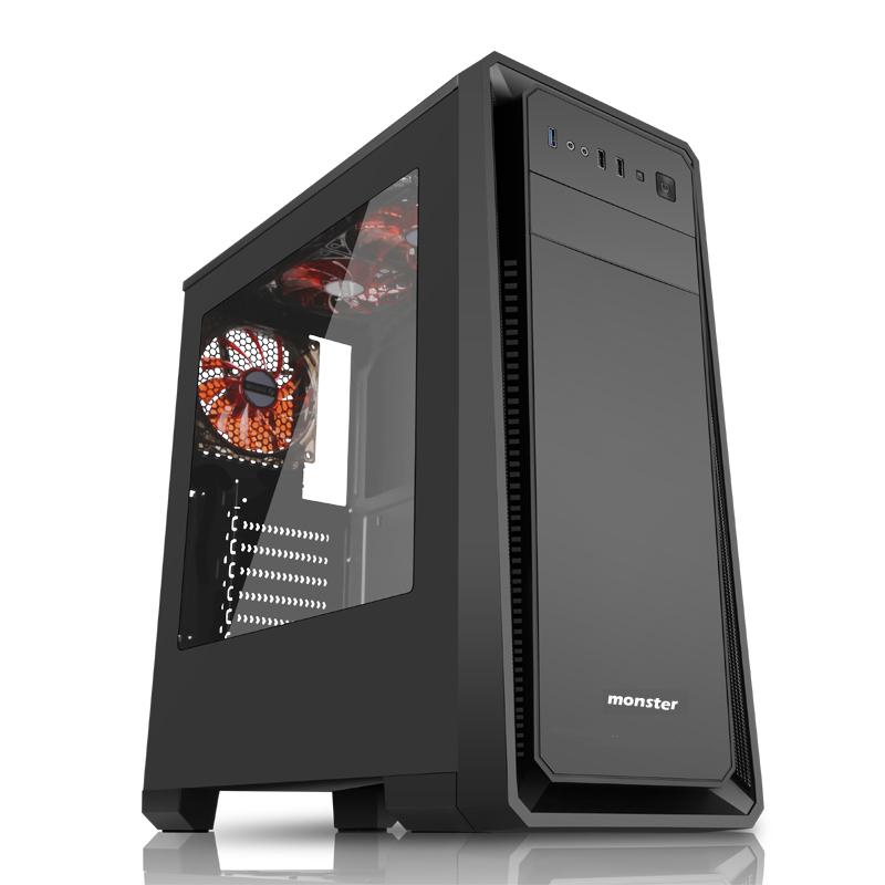 Корпус 3Cott MONSTER I ATX, без БП, игровой, 1x USB 3.0, 2x USB 2.0, окно, 0.7 мм корпус atx 3cott 1818 без бп чёрный