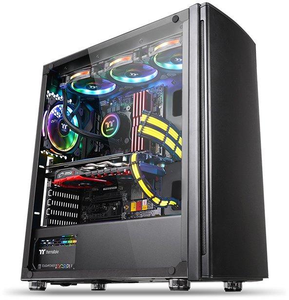 Корпус Thermaltake Versa H27 TG CA-1J6-00M1WN-00 /Black/Win/SECC/Tempered Glass*1 (871304) корпус thermaltake versa j22 tg black ca 1l5 00m1wn 00