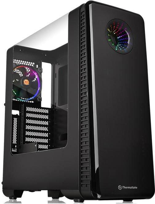 Корпус Thermaltake View 28 RGB Riing Edition CA-1H2-00M1WN-01 Black/Win/SGCC/Riing RGB*1(7948) корпус atx miditower thermaltake view 28 rgb ca 1h2 00m1wn 00 black