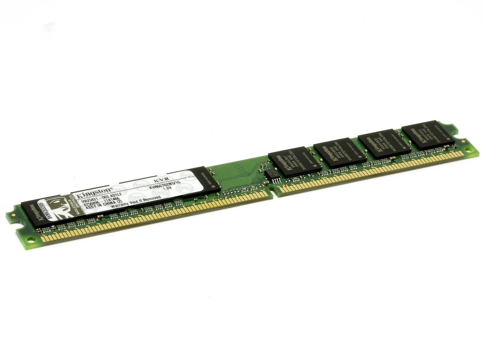 Память DDRII 1024Mb (pc-5300) 667MHz Kingston (Retail) (KVR667D2N5/1G)