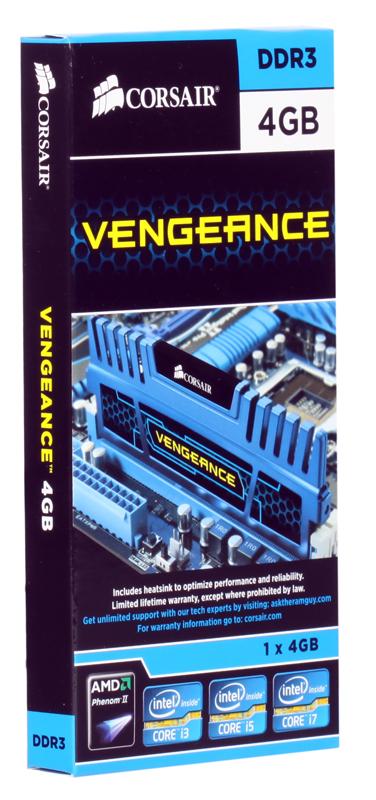 Память DDR3 4Gb (pc-12800) Corsair Vengeance™ (CMZ4GX3M1A1600C9B) память ddr3 8gb pc 12800 corsair vengeance cmz8gx3m1a1600c9