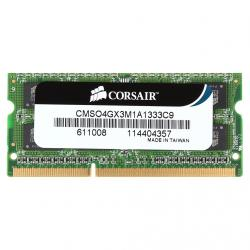Память SO-DIMM DDR3 4096 Mb (pc-10600) 1333MHz Corsair (CMSO4GX3M1A1333C9)