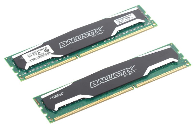 Память DDR3 8Gb (pc-12800) 1600MHz Crucial, 2x4Gb, Ballistix Sport CL9 (BLS2CP4G3D1609DS1S00CEU)
