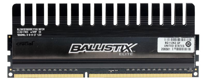 Память DDR3 8Gb (pc-14900) 1866MHz Crucial, Ballistix Elite CL9, w/XMP/TS (BLE8G3D1869DE1TX0CEU)