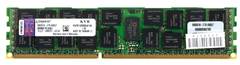 Память DDR3 16Gb (pc-10600) 1333MHz ECC Reg D4 TS Kingston (Retail) (KVR13R9D4/16). Производитель: Kingston, артикул: 0201211