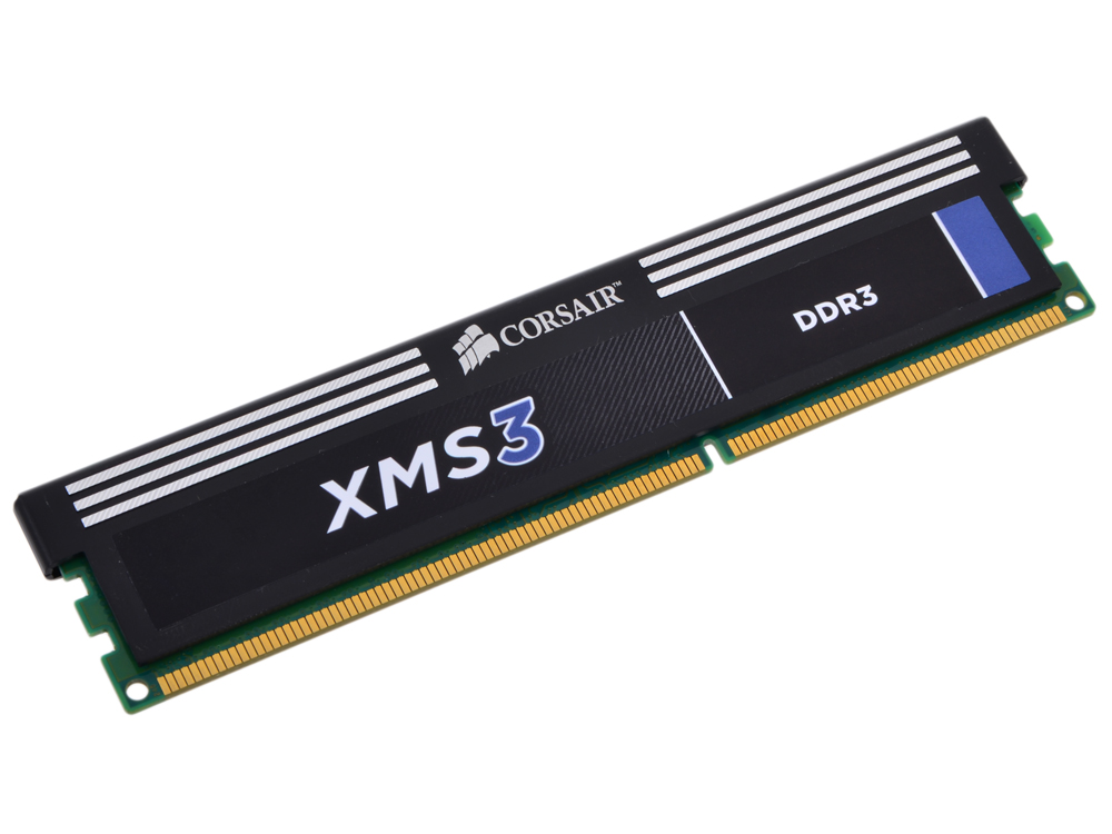 Оперативная память Corsair XMS3 DDR3 4Gb, PC12800, DIMM, 1600MHz (CMX4GX3M1A1600C11) with Classic Heat Spreader corsair xms3 cmx4gx3m1a1600c9 memory bank