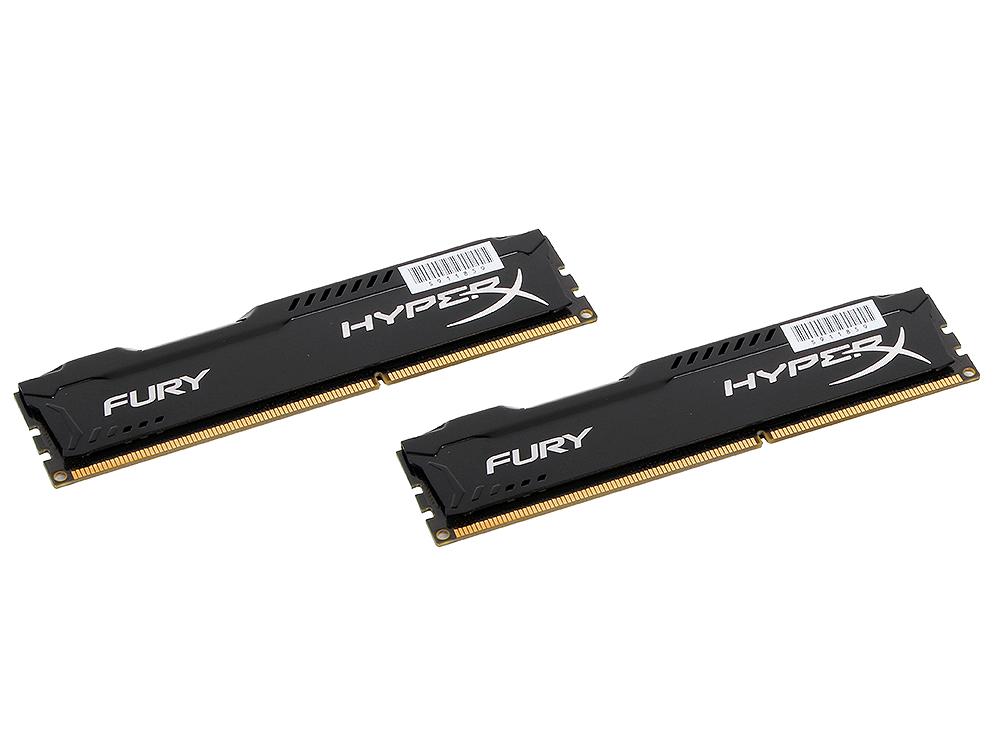 Память DDR3 8Gb (pc-12800) 1600MHz Kingston HyperX Fury Black Series CL10 Kit of 2  (HX316C10FBK2/8) nowley nowley 8 5616 0 2