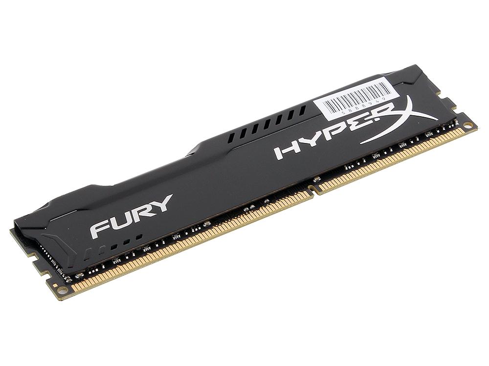 Оперативная память Kingston HyperX Fury DDR3 8Gb, PC15000, DIMM, 1866MHz (HX318C10FB/8) Black Series CL10 [Retail]