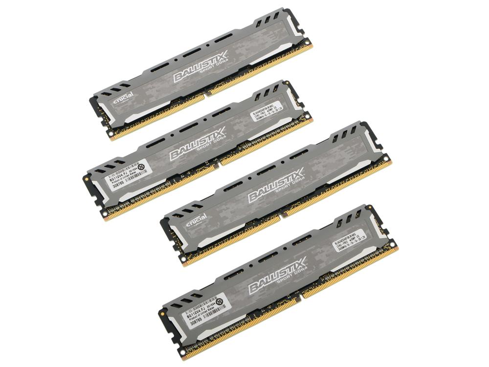 Память DDR4 4x4Gb 2400MHz Crucial BLS4C4G4D240FSB RTL PC4-19200 CL16 DIMM 288-pin 1.2В kit