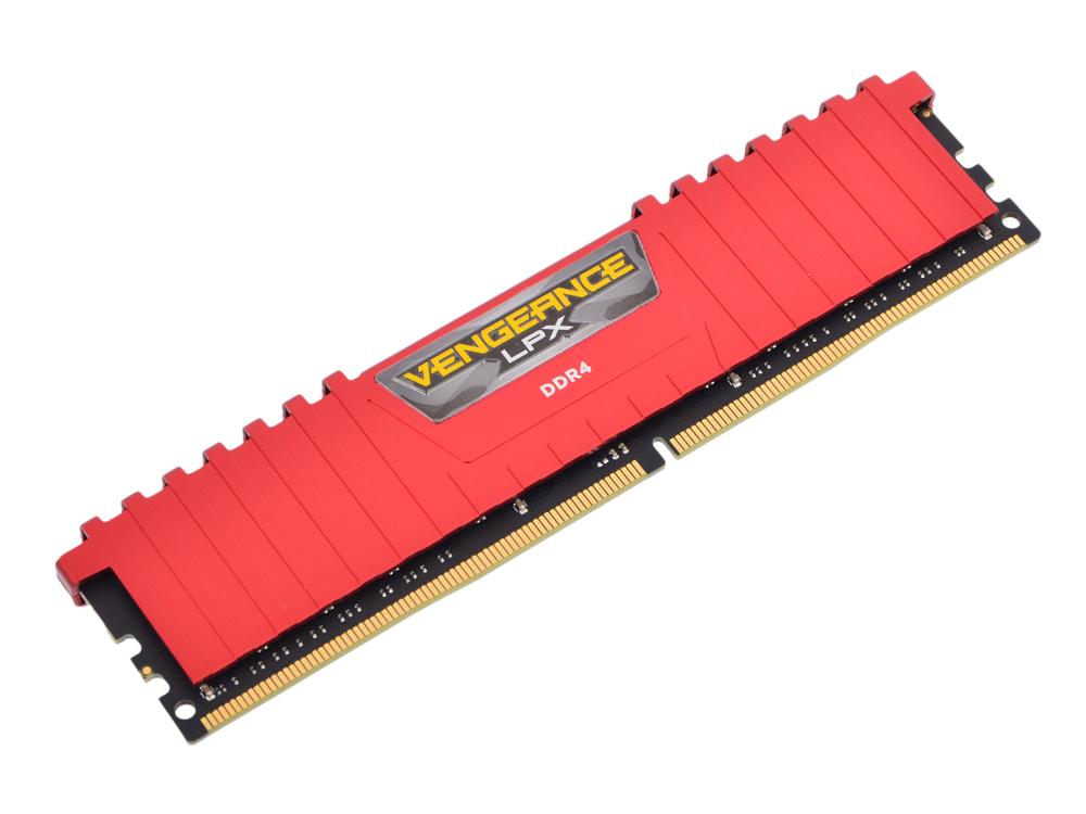 Память Corsair CMK8GX4M1A2666C16R RTL 8Gb 2666MHz 288-pin 1.2В DDR4 DIMM / pc4-21300 / CL16 память ddr4 2x16gb 2400mhz corsair cmk32gx4m2a2400c14 rtl pc4 19200 cl14 dimm 288 pin 1 2в