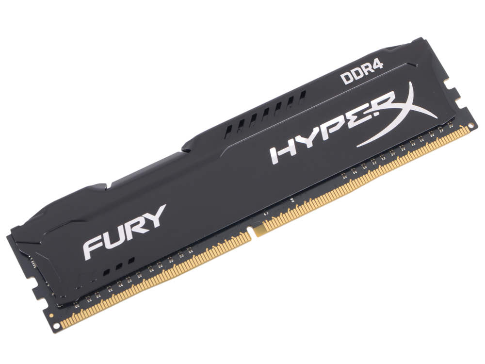 Память DDR4 4Gb (PC4-21300) 2666MHz Kingston HyperX Fury Black Series CL15 HX426C15FB/4