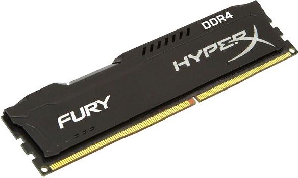 Оперативная память Kingston HyperX Fury Black Series HX421C14FB/4 DIMM 4Gb DDR4 2133MHz DIMM 288-pin/PC-17000/CL14 цена и фото