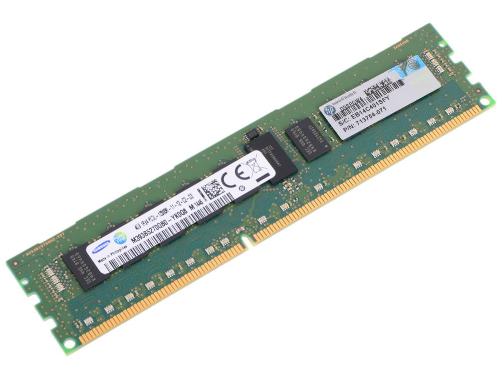 Модуль памяти HP 4GB 1Rx4 PC3L-12800R-11 Kit 713981-B21