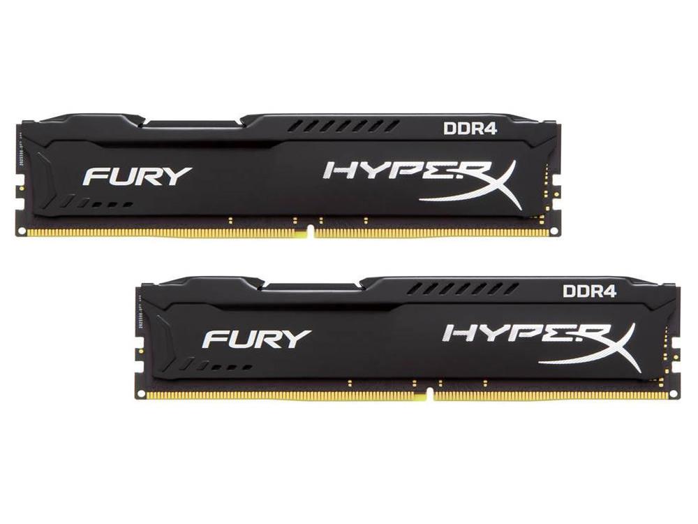 Оперативная память 8Gb (2x4Gb) PC4-17000 2133MHz DDR4 DIMM CL14 Kingston HX421C14FBK2/8 оперативная память kingston hyperx fury hx421c14fbk2 8 ddr4 8гб pc4 17000 2133 черный