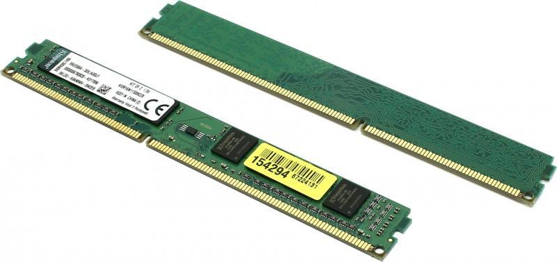 Оперативная память 8Gb (2x4Gb) PC3-12800 1600MHz DDR3 DIMM Kingston KVR16N11S8K2/8 модуль памяти kingston ddr3 dimm 1600mhz pc3 12800 8gb kit 2x4gb kvr16n11s8k2 8