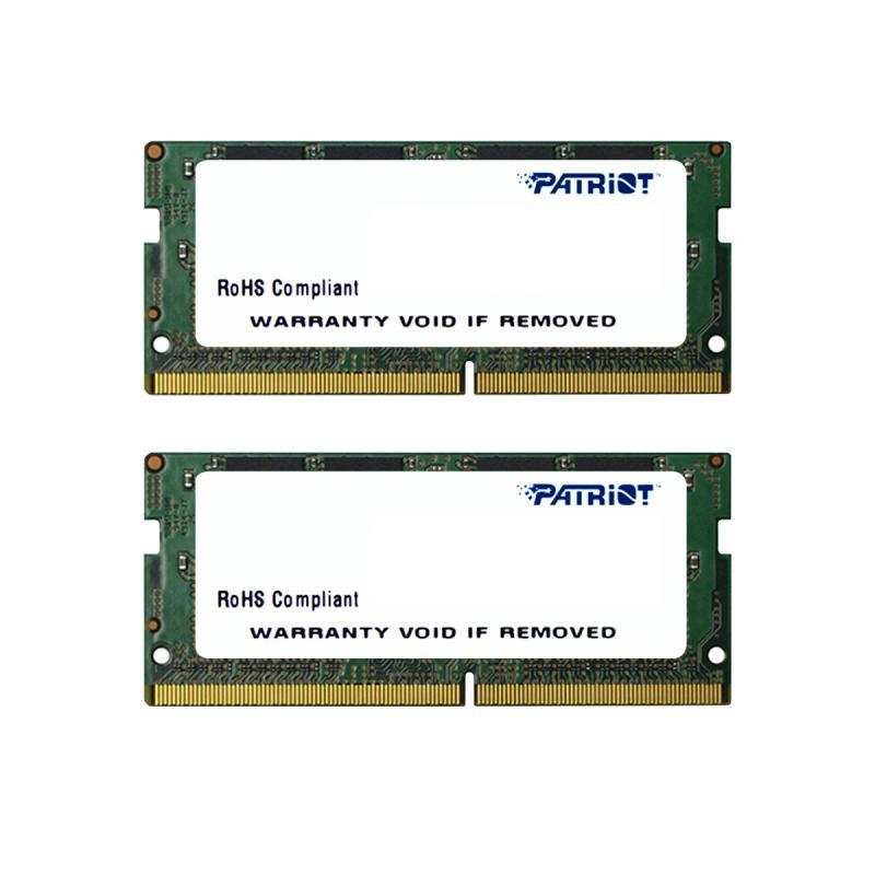 Оперативная память для ноутбуков SO-DDR4 16Gb (2x8Gb) PC4-17000 2133MHz DDR4 DIMM Patriot PSD416G213