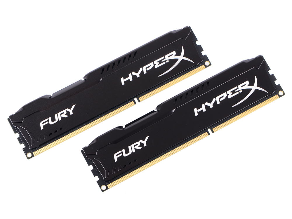 Оперативная память Kingston HX313C9FBK2/8 HyperX FURY DIMM 8Gb (2x4Gb) DDR3 1333MHz DIMM 240-pin/PC-10600/CL9 память оперативная ddr3 kingston 8gb 1333mhz kvr1333d3n9 8g