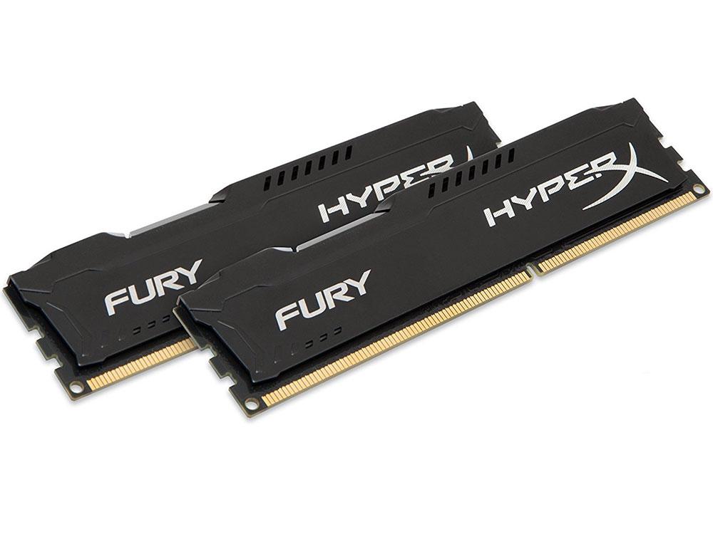 Картинка для Оперативная память 8Gb (2x4Gb) PC3-10600 1333MHz DDR3 DIMM CL9 Kingston HX313C9FBK2/8 HyperX FURY Bl