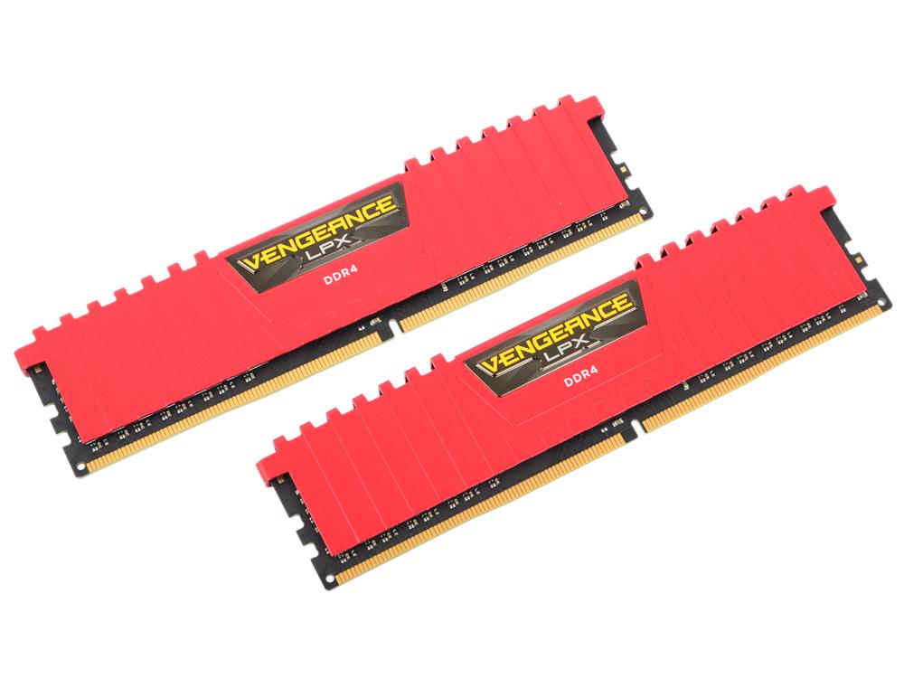 Оперативная память Corsair VENGANCE RED CMK16GX4M2A2133C13R DIMM 16GB (2x8GB) DDR4 2133MHz DIMM 260-pin/PC-17000/CL13