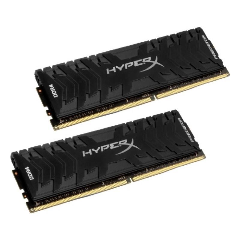 Оперативная память 16Gb (2x8Gb) PC4-26664 3333MHz DDR4 DIMM CL16 Kingston HX433C16PB3K2/16 оперативная память kingston 16gb 2400mhz ddr4 dimm kvr24se17d8 16