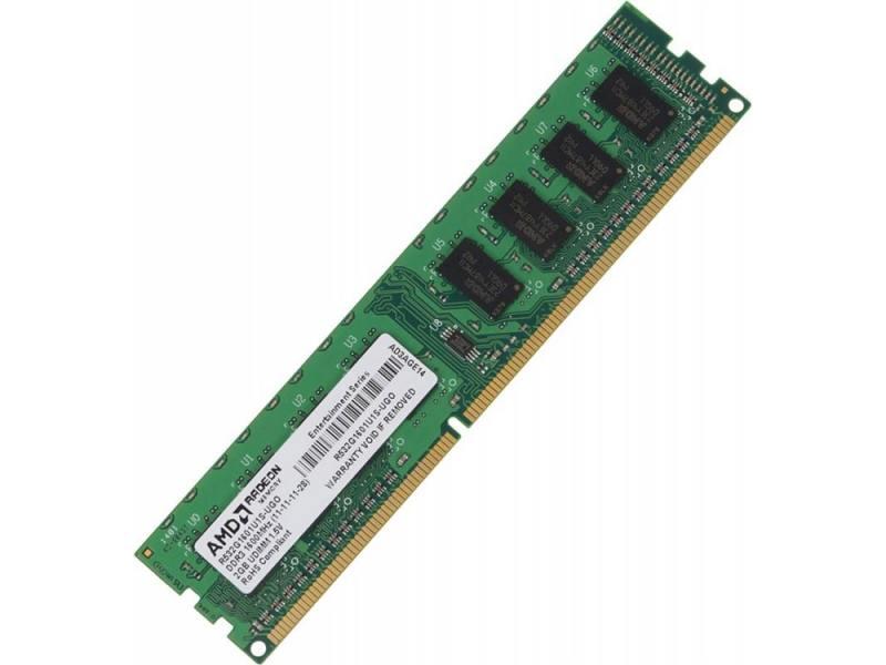 Оперативная память 2Gb PC3-12800 1600MHz DDR3 DIMM AMD R532G1601U1S-UGO оперативная память 8gb pc3 12800 1600mhz ddr3 dimm amd r538g1601u2s uo