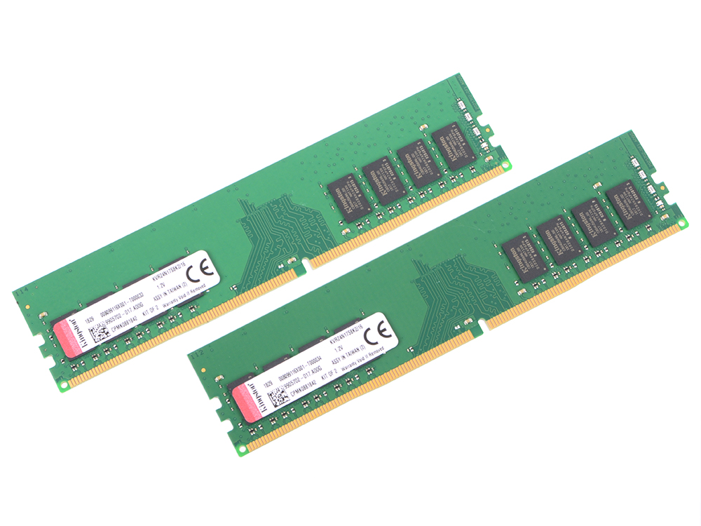 Оперативная память Kingston KVR24N17S8K2/16 DIMM DDR4 2x8Gb 2400MHz DIMM 288-pin/PC-19200/CL17 оперативная память corsair cmv8gx4m1a2400c16 dimm 8gb ddr4 2400mhz dimm 288 pin pc 19200 cl16