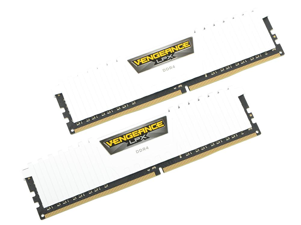 Оперативная память Corsair CMK16GX4M2A2666C16W DIMM 16GB(2x8GB) DDR4 2666MHz DIMM 288-pin/PC-21300/CL15