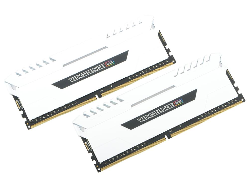 Оперативная память Corsair Vengeance RGB CMR16GX4M2C3000C16W DIMM 16GB (2x8GB) DDR4 3200MHz оперативная память corsair vengeance lpx 2x8gb ddr4 dimm 3600мгц cl18 cmk16gx4m2b3600c18r