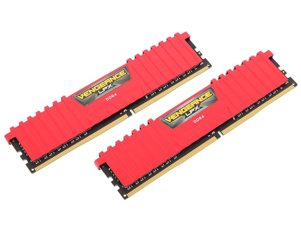 Оперативная память Corsair Vengeance LPX CMK16GX4M2B3000C15R DIMM 16GB (2x8GB) DDR4 3000MHz DIMM 288-pin/PC-24000/CL15 оперативная память corsair vengeance lpx cmk32gx4m4a2400c16