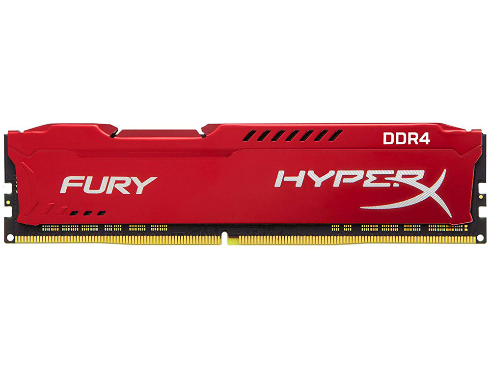 Оперативная память Kingston HyperX Fury (HX434C19FR2/8) DIMM 8GB DDR4 3466MHz DIMM 288-pin/PC-27700/CL19 модуль памяти kingston hyperx fury white ddr4 dimm 3466mhz pc 27700 cl19 16gb hx434c19fw 16