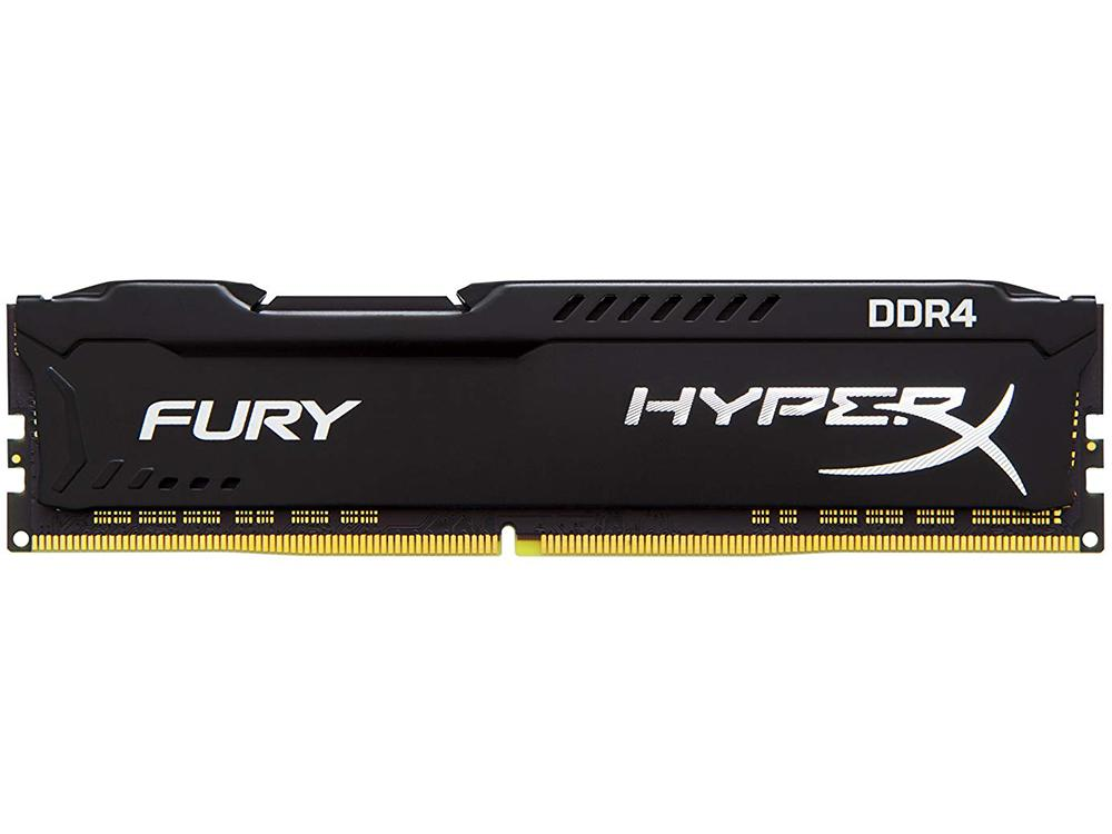 Оперативная память Kingston HyperX Fury (HX434C19FB2/8) DIMM 8GB DDR4 3466MHz DIMM 288-pin/PC-27700/CL19 модуль памяти kingston hyperx fury white ddr4 dimm 3466mhz pc 27700 cl19 16gb hx434c19fw 16