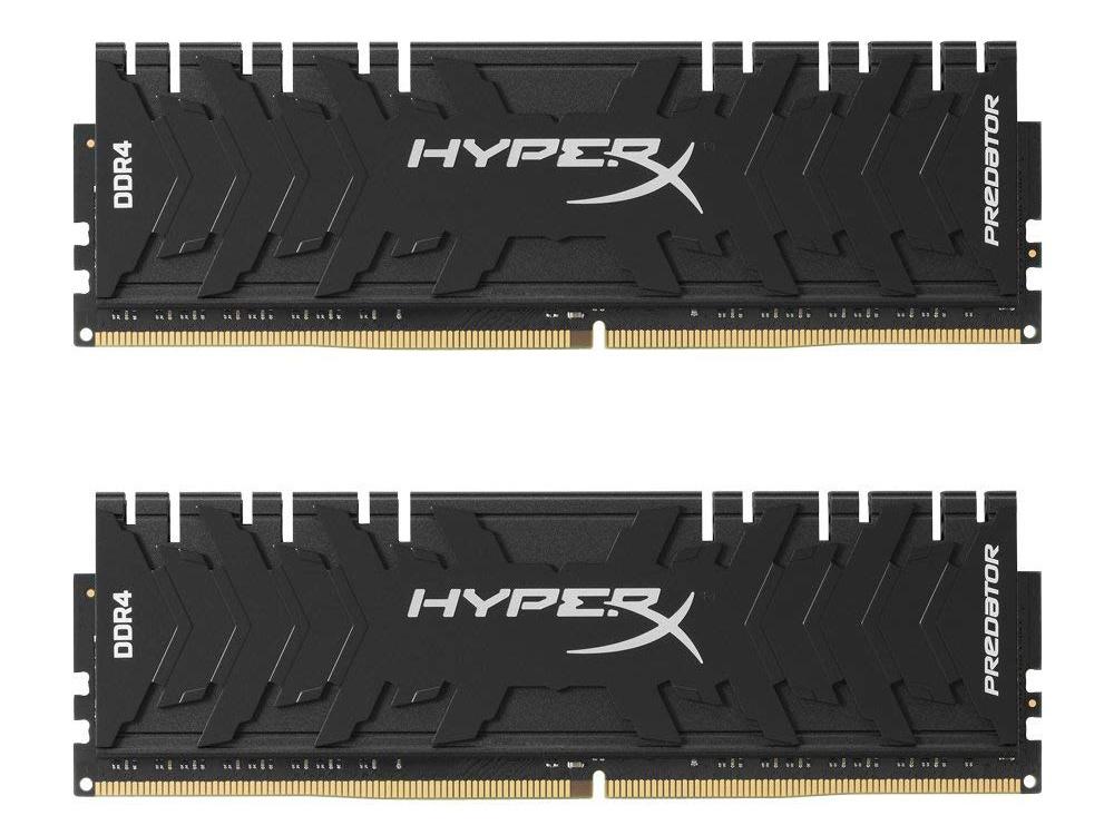Модуль памяти DDR4 Kingston 8Gb KIT (4GbX2) 3200MHz HyperX PREDATOR Black Series CL16 [HX432C16PB3K2 модуль памяти kingston hyperx predator hx432c16pb3k2 16 ddr4 2x 8гб 3000 dimm ret
