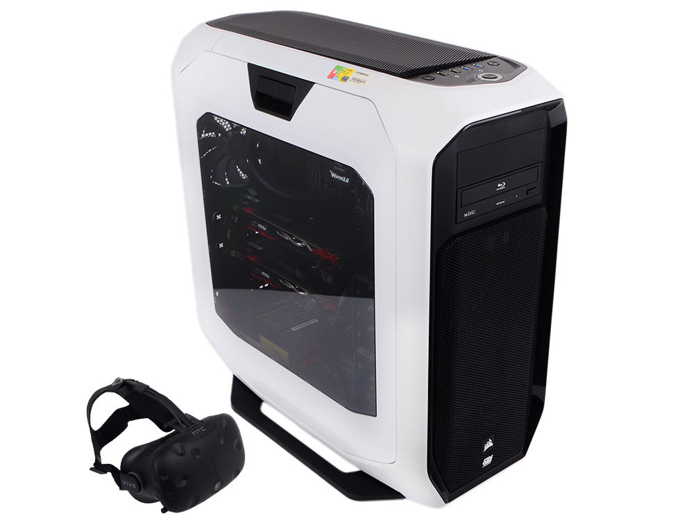 Компьютер Game PC 770 Intel Core i7-6900K/128Gb/1Tb SSD/8Tb/8Gb GTX1080 x 2 (SLI) /BD-W/Wi-Fi/Win10 Pro 64-bit + шлем VR HTC Vive компьютер game pc 710 intel core i3 7100 8gb 1tb 2gb gtx1050 win10h sl 64 bit