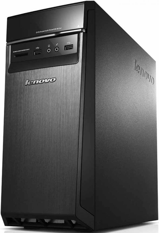 Системный блок Lenovo 300-20ISH i3-6100 3.7GHz 4Gb 500Gb DVD-RW DOS клавиатура мышь черный 90DA00FKR
