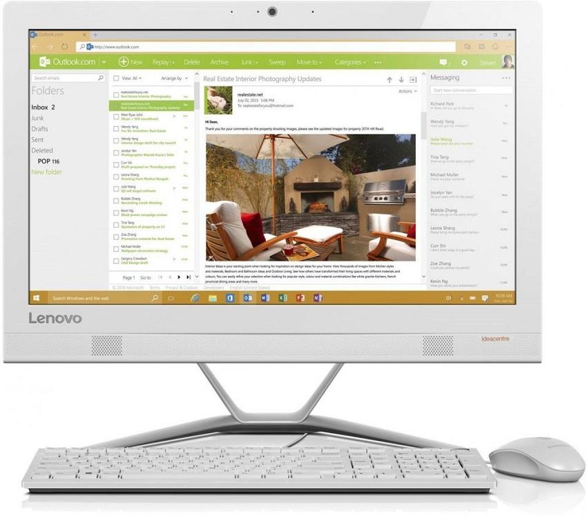 Моноблок Lenovo IdeaCentre AIO300-23ISU i3-6006U (2.0GHz)/8Gb/1Tb/23