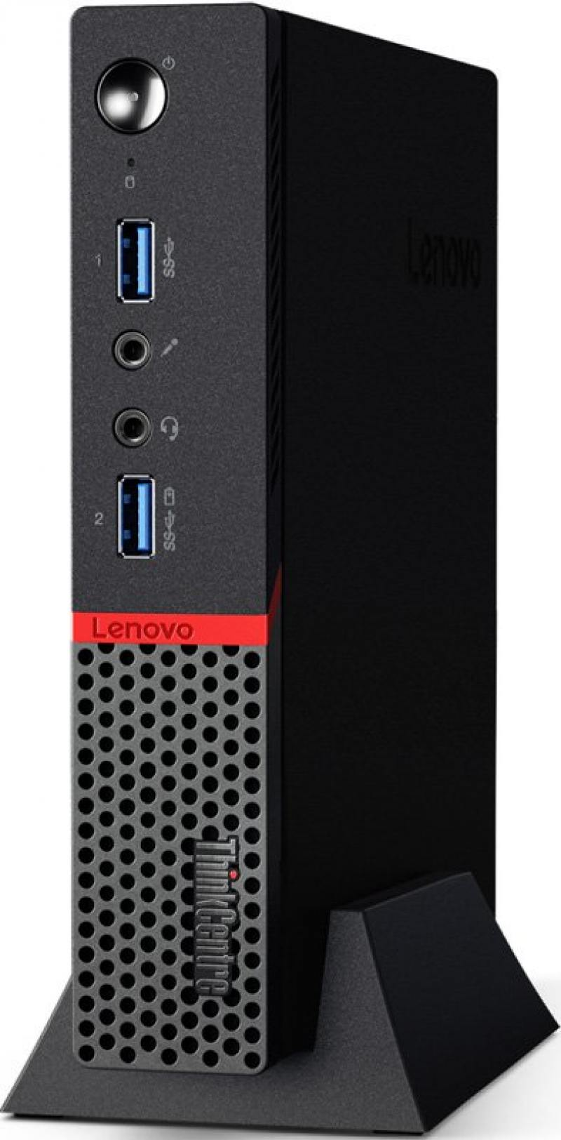 Неттоп Lenovo ThinkCentre M600 TINY slim 10G9001LRU Pentium J3710 (1.6)/4Gb/500Gb/Int:Intel HD/WiFi/BT/Vesa/4xUSB 3.0/VGA/DP/LAN/DOS Black
