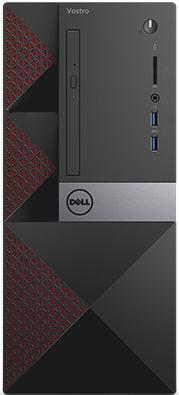 Системный блок DELL Vostro 3667 G4400 3.3GHz 4Gb 500Gb HD510 DVD-RW Linux клавиатура мышь черный 366 системный блок lenovo s200 mt j3710 4gb 500gb dvd rw dos клавиатура мышь черный 10hq001fru