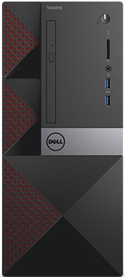 Компьютер Dell Vostro 3667 MT (3667-8138) i3-6100 (3.7) / 4Gb / 1Tb / GeForce GT710 2Gb / DVD нет / Win 10 Pro / Black uwr 30690