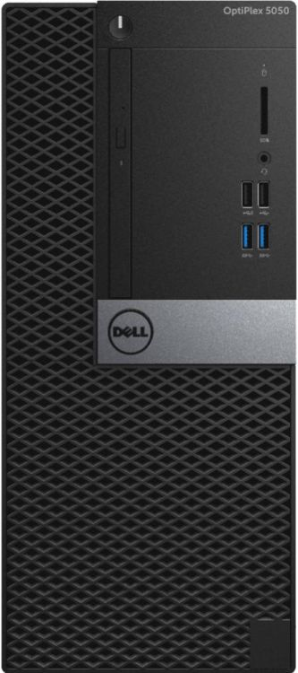 Системный блок DELL Optiplex 5050 MT i7-7700 3.6GHz 8Gb 1Tb HD630 DVD-RW Win10Pro клавиатура мышь се моноблок dell optiplex 7450 core i7 7700 3 6ghz23 8 8gb 1tb dvd r7 m465x w10 pro 64 black 7450 3518