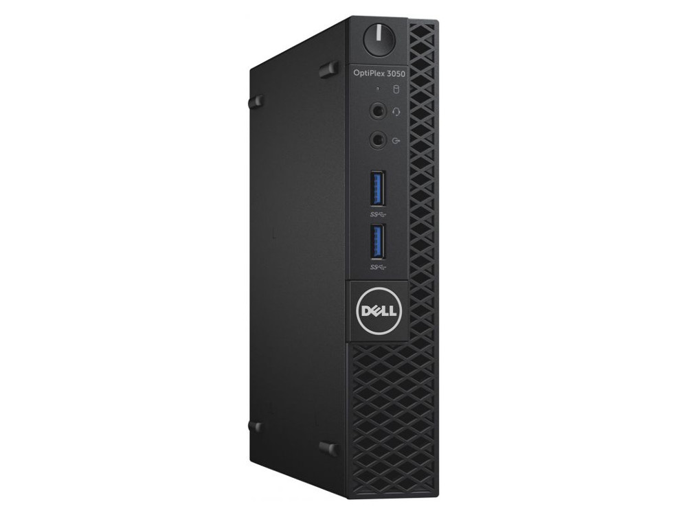 Системный блок DELL Optiplex 3050 Micro (3050-0498) Pentium G4400T (2.9)/4GB/500GB/Int: Intel HD 510/noDVD/KB+M/Linux (Black)