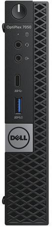 Неттоп DELL OptiPlex 7050 MFF (7050-8350) i7-7700T(2.9) / 8Gb / 500Gb / Win10 Pro / Eth / WiFi /черный dell optiplex 3020