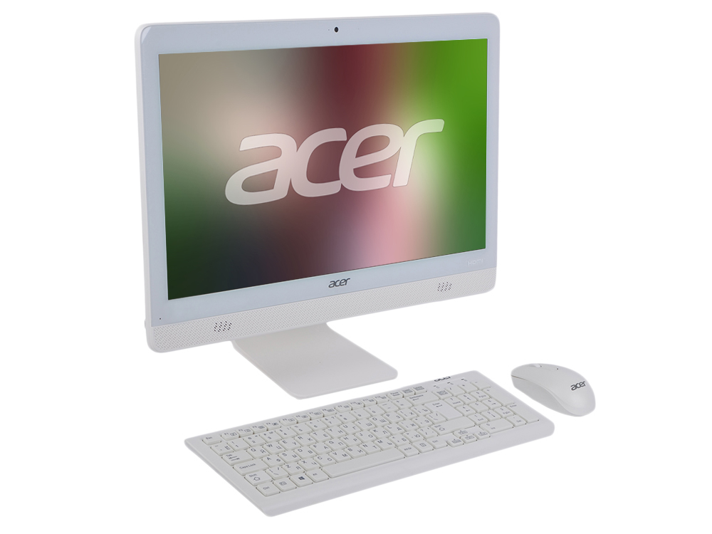 Моноблок Acer Aspire C20-720 (DQ.B6ZER.009) Pentium J3710/4GB/500GB/DVD-RW/19.5 (1600x900)/int: Intel HD/ WiFi/KB+mouse/DOS White ноутбуки acer aspire f5 571g p8pj intel pentium 3556u 1700 mhz 15 6