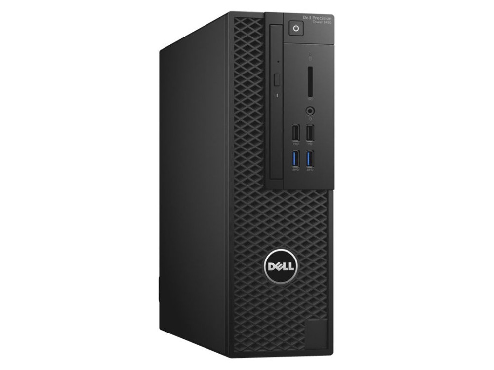 Системный блок DELL Precision 3420 SFF (3420-4513) Xeon E3-1220v5 (3.0)/8Gb/1TB/NVQ P600 2Gb/DVD-RW/Win10 Black системный блок dell precision 3420 sff 3420 4513