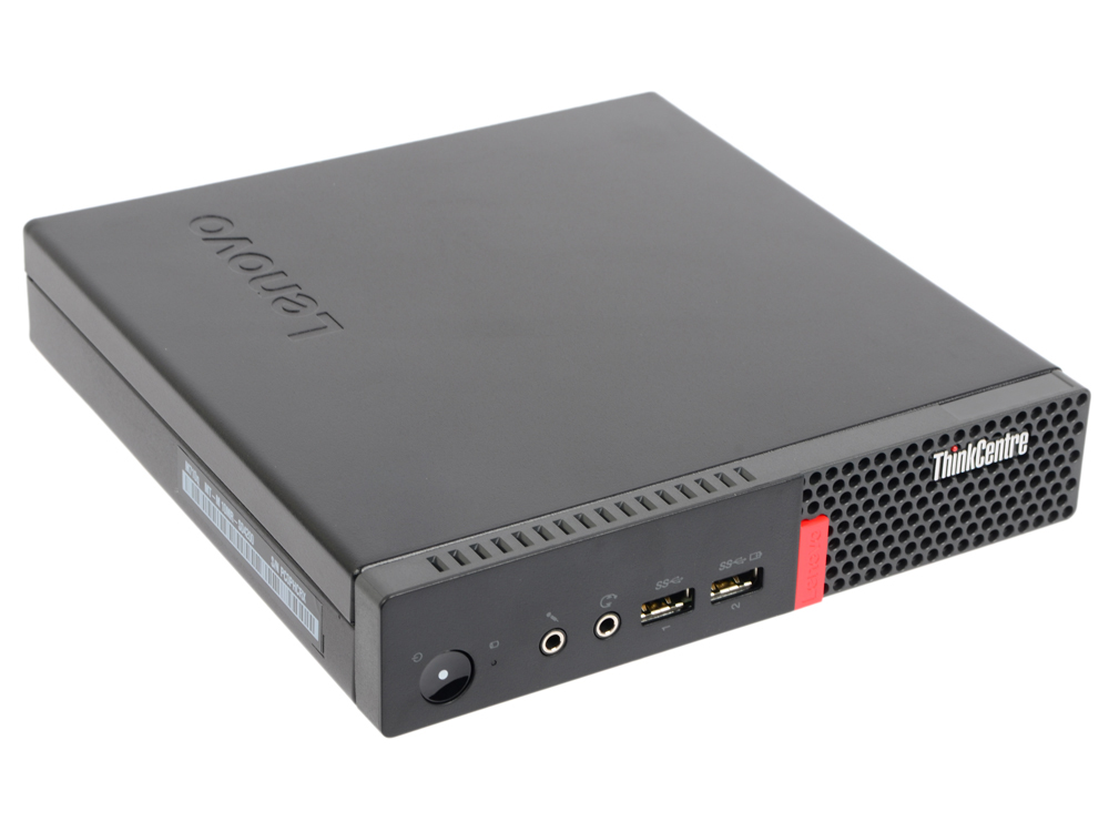 Неттоп Lenovo ThinkCentre Tiny M710q (10MRS04600) i3 7100T (3.4)/4Gb/128Gb SSD/Int:Intel HD/WiFi/BT/4xUSB 3.0/2xDP/LAN/DOS Black тонкий клиент lenovo thinkcentre tiny m710q 10mr000wru 10mr000wru