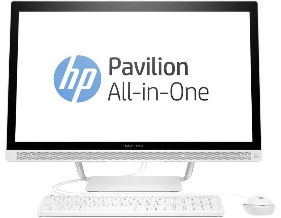 купить Моноблок HP Pavilion 27I 27-r004ur (2MJ64EA) i3-7100T (3.4) / 8Gb / 1Tb + 16Gb Intel Optane / 27 FHD IPS / HD Graphics 630 / Win10 (Blizzard White) дешево