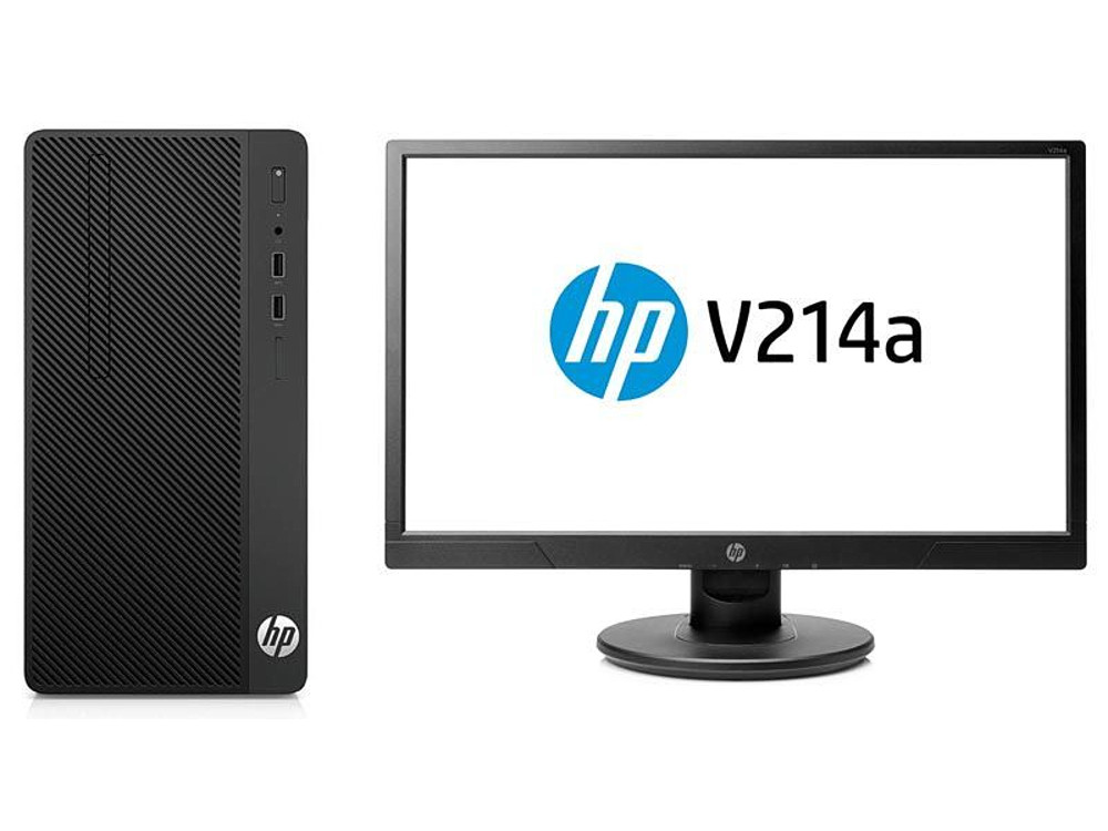 Системный блок HP 290 G1 Bundle (2RT83ES) i5-7500 (3.4) / 4Gb / 500Gb / Int: Intel HD 630 / DVD-RW / DOS (Black) + монитор V214 все цены